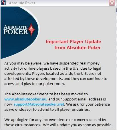 Absolute poker homepage